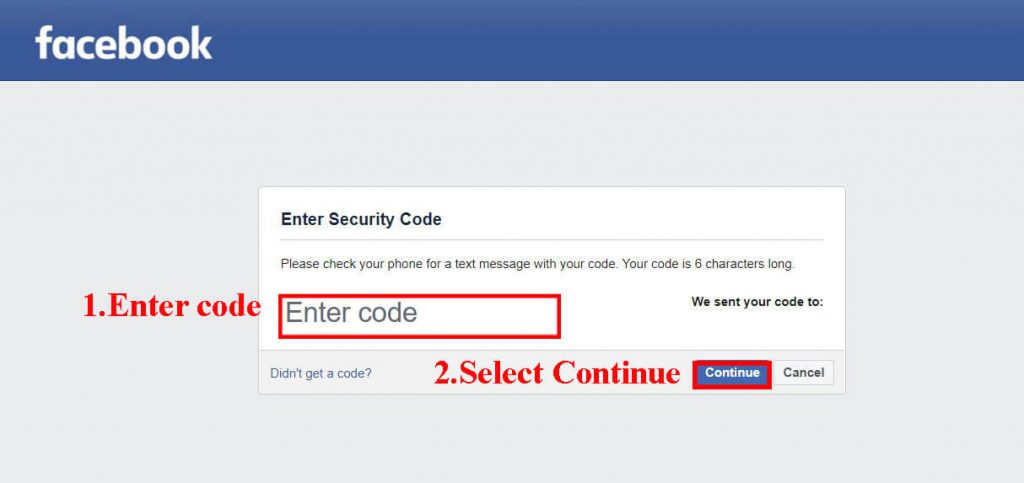 step 4 (change Facebook password without old password)