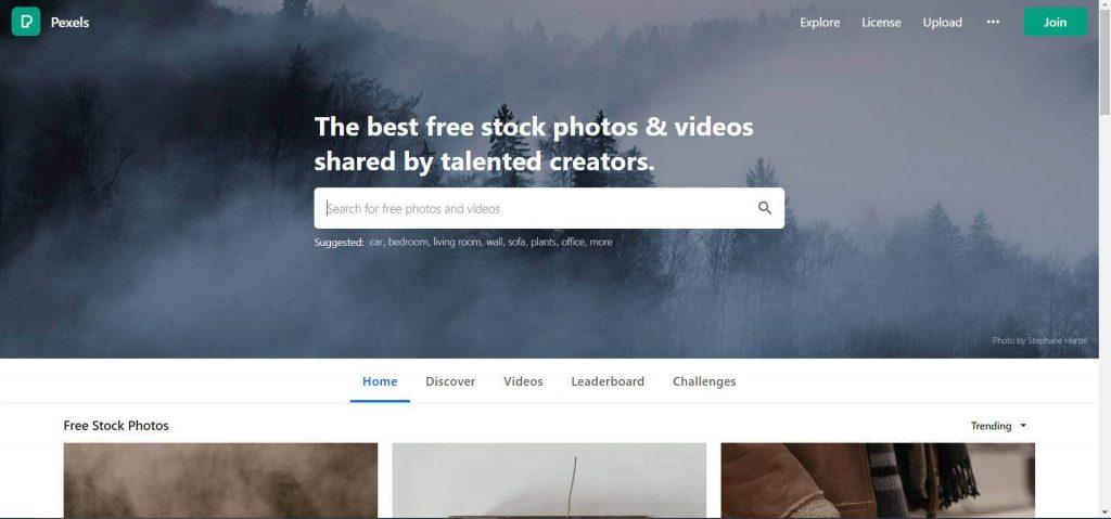 Pexels (top free image download sites)