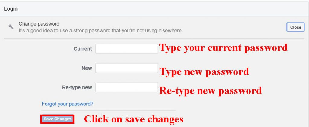 edit password (how to change password on Facebook)