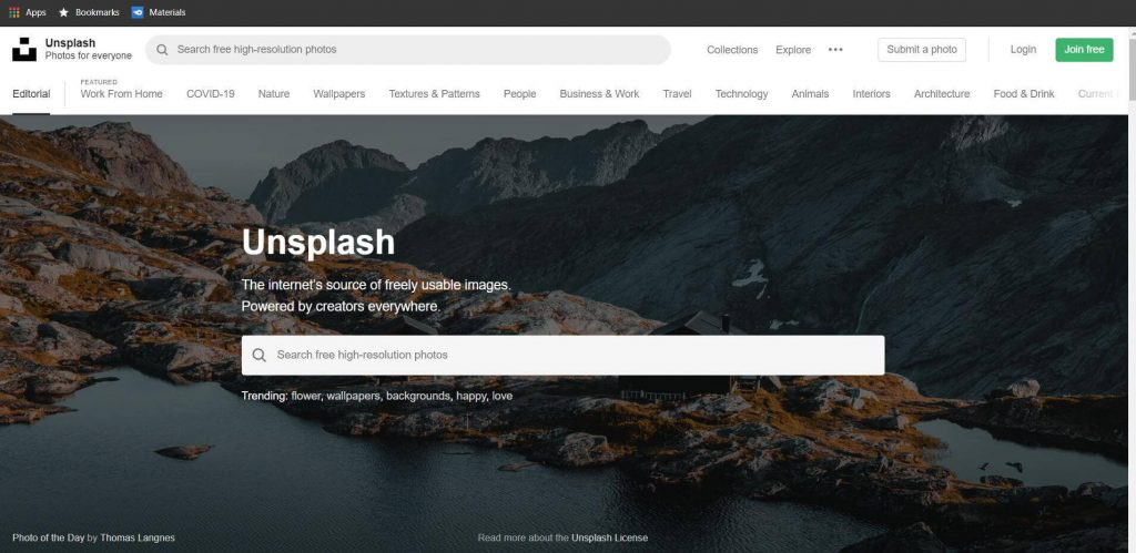 Uncplash (top free image download sites)