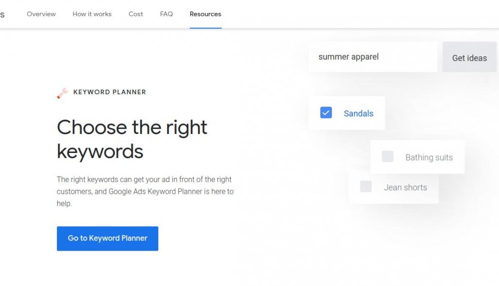 how does google's keyword planner tool work