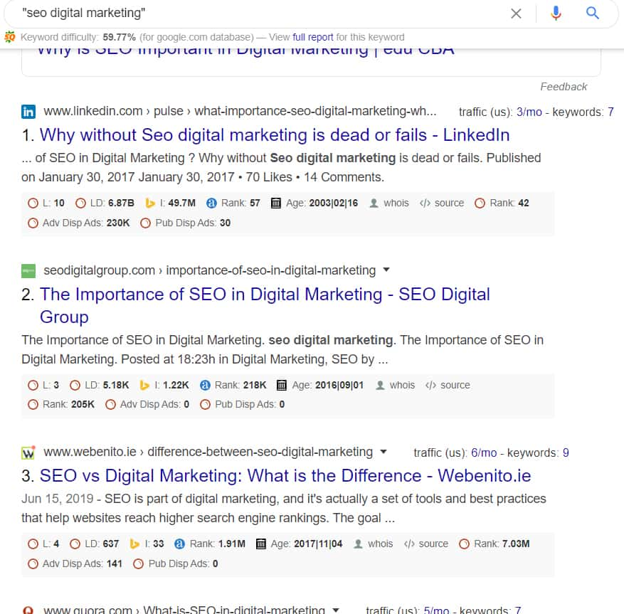 Google Search Operator