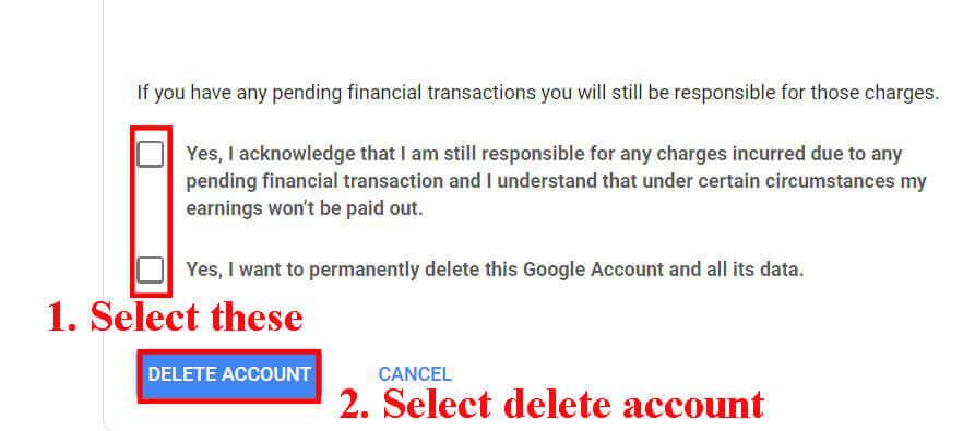 Delete Google Account (how to delete google account)
