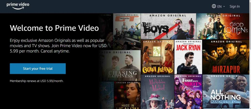 AmazonPrime_Free Sites To Watch Hindi Movies Online