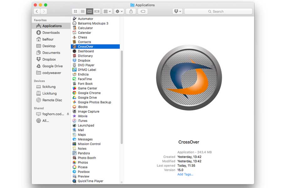 CrossOver MacBook ways to run windows on mac