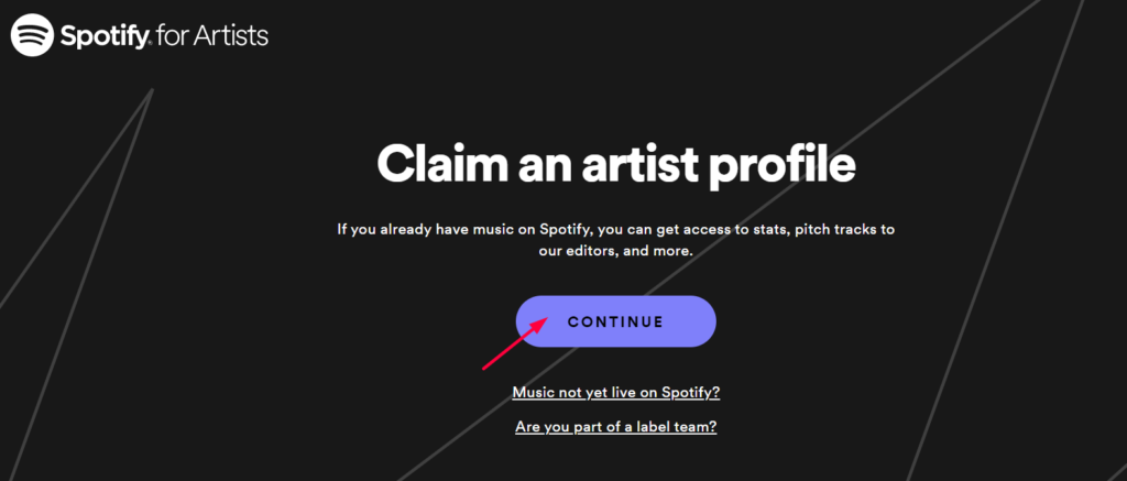 step 3_Create A Spotify Artist Account