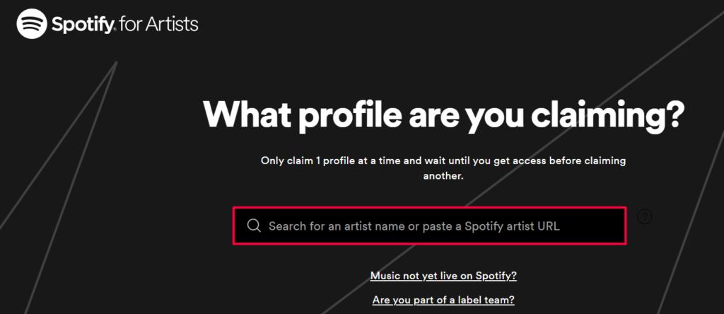 Step 4_Create A Spotify Artist Account