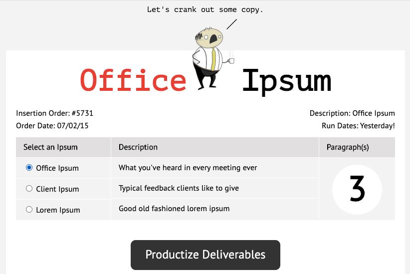 Office ipsum_Free Lorem Ipsum Generators