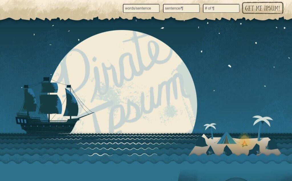 Pirate Ipsum _Free Lorem Ipsum Generators